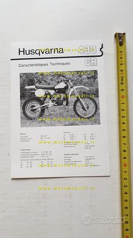 Husqvarna 430 CR Cross 1981 scheda tecnica stampa