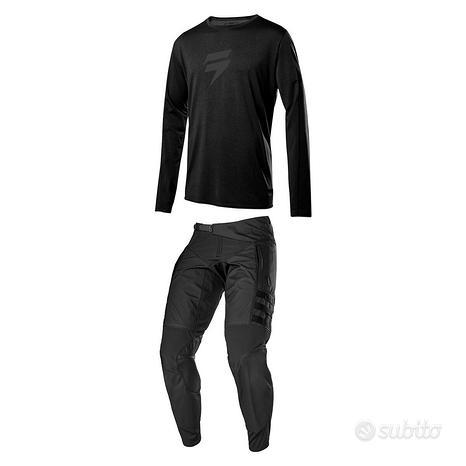 Completo enduro tuta shift nero raid pantaloni 36