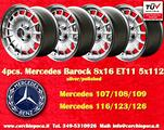 4 Cerchi Mercedes 8x16 107 116 124 126 8x16 Barock