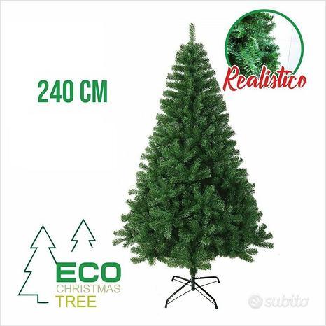 Albero di natale pino realistico verde 240cm