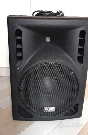 Cassa acustica attiva amplificata audio per dj