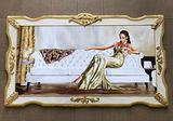 Quadro oro o argento barocco modella