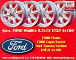 4 Cerchi FORD Lotus Minilite 5.5x13 4x108 TUV