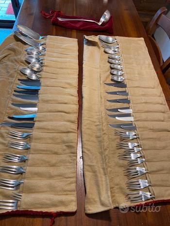 Servizio posate in argento 800 - 77 pezzi