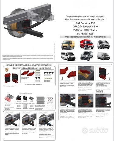 Kit sospensioni ad aria furgoni pick-up camper