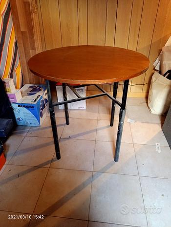 Tavolo Tavolino legno struttura ferro allungabile