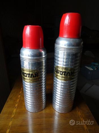 WOTAN - 2 thermos alluminio interno vetro - anni '
