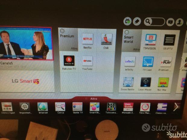 """Smart tv LG 42"""" led con funzione 3D con 4 occhiali"""