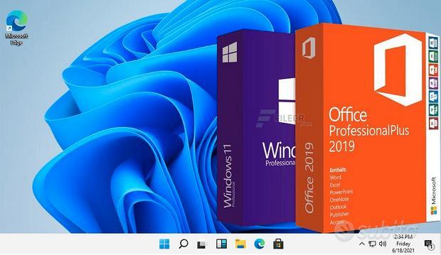 Licenza Windows 11 Pro Office 2019 2021 Pro Plus