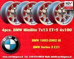 4 Cerchi BMW/Opel Minilite 7x13 4x100 ET+5 TUV