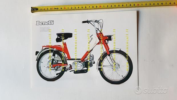 Benelli 50 Bobo 1975 Depliant brochure ciclomotore