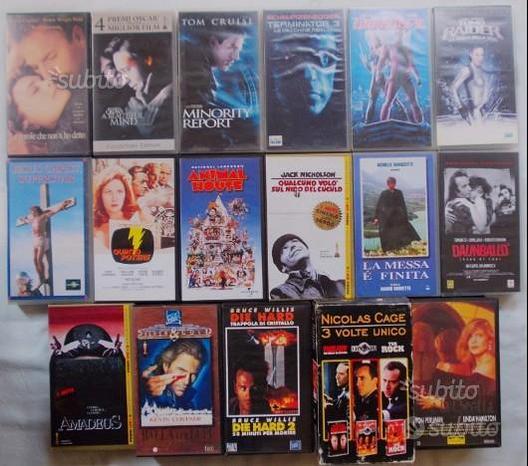 VHS videocassette film e cartoni animati 53 pezzi