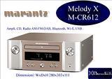 Marantz Melody MCR612 audio CD-DAB-FM, NUOVO!