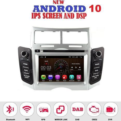 ANDROID GPS BT autoradio navigatore Toyota Yaris