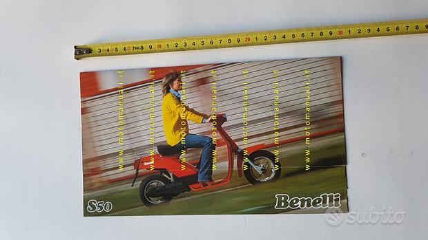 Benelli S 50 Scooter depliant brochure epoca