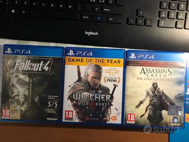Giochi PS4: The Witcher 3, Fallout 4, AC Ezio Col