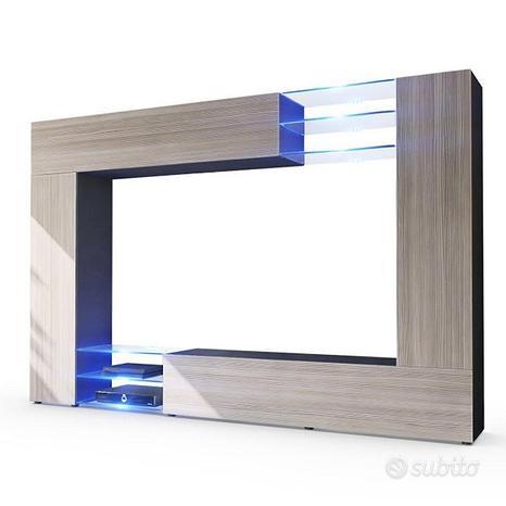 Parete porta TV moderno, mobile soggiorno Wast