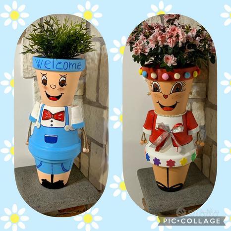 Vaso Bambola Vaso Pupazzo Personalizzabile