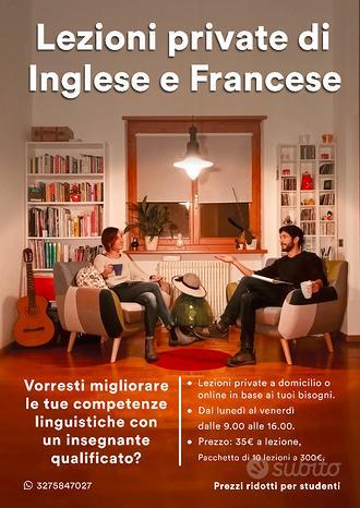 Insegnante di Inglese / Francese Madrelingua