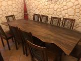 Tavolo teck e 10 sedie sheesham