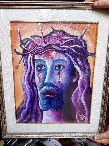 Quadro di Cristo Olio su Tela
