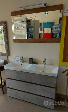 Arredobagno expo soho s35 doppio lavabo rovere