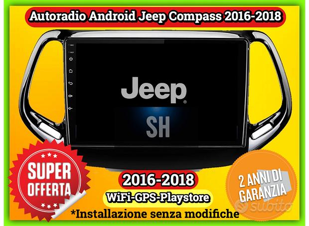 Navigatore Android Jeep Compass 2016-2019