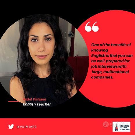 Insegnante Madrelingua Inglese Online