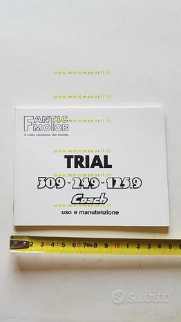 Fantic Motor Coach 309-249-125 Trial manuale uso