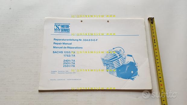 Sachs motori 125 175 250 7V 1976 manuale officina