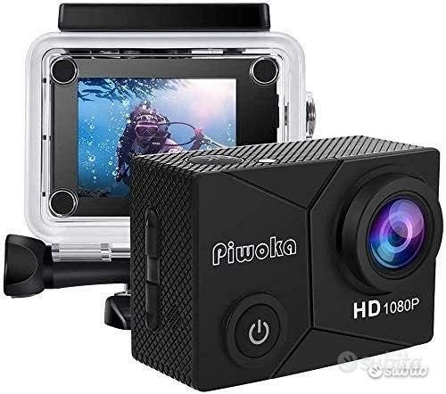 Action Cam 1080P 12MP FHD Impermeabile Fotocamera