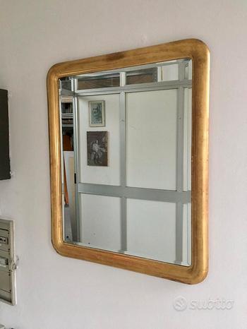 Specchio antiquariato con foglia d'oro