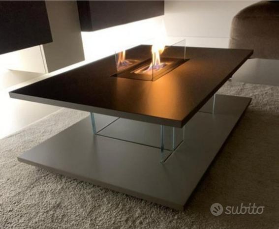 Tavolino Salotto design con camino bioetanolo