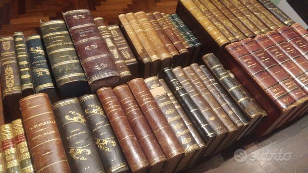Enorme collezione libri antichi legature pregiate