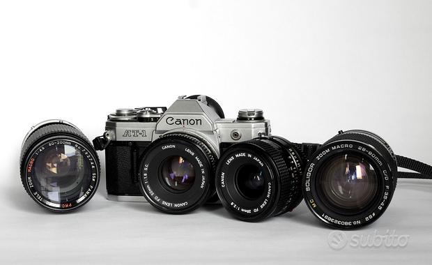 Fotocamera Canon AT1 analogica 35mm corredata