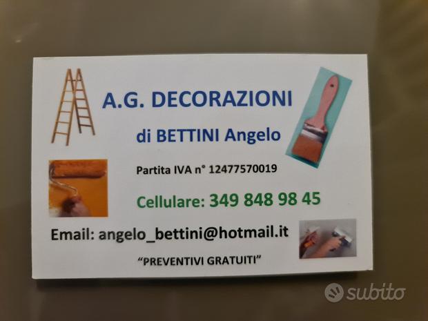 Decoratore/Imbianchino