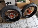 Cerchi motard KTM excel bicolore nuovi