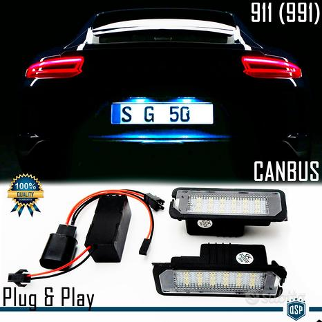 Placchette Luci Targa LED Porsche 911 991 Canbus