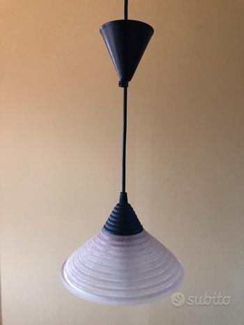 Coppia lampadari attacco E14 vetro