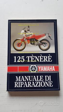 Yamaha 125 Tenerè 1988 manuale officina originale