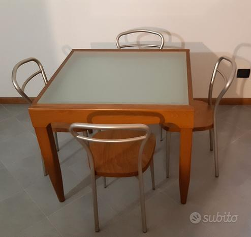 Set tavolo da 4 allungabile + 4 sedie