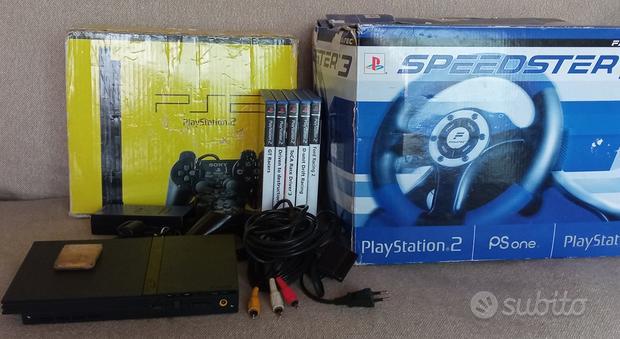 PlayStation 2 + volante + 5 giochi + Memory card