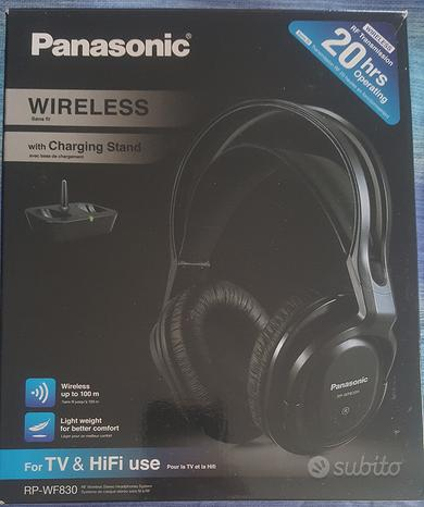 Panasonic rp-wf830 cuffie BT tv conf.compl.nuove