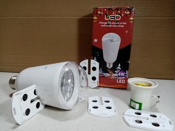 Proiettore lampadina led e27 rotante di immagini n