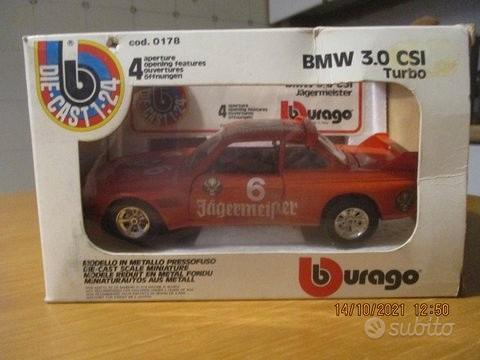 Re-bmw 3.0 - jaegermeister - burago 1/24-mb