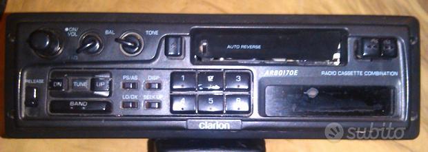 Autoradio clarion arb0170e a cassette anni 90