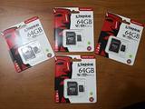 Micro sd kingston 64gb + sd adapter
