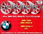 4 Cerchi Minilite 7x15 per BMW/Opel 4x100 ET5