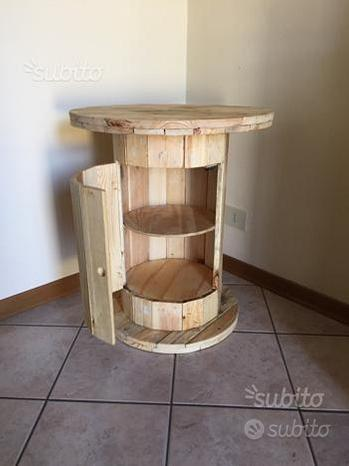 Tavolino mobilino bar arredo pallet bobina legno