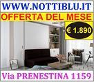 Letto a Scomparsa 2 piazze con DIVANO by NOTTI BLU